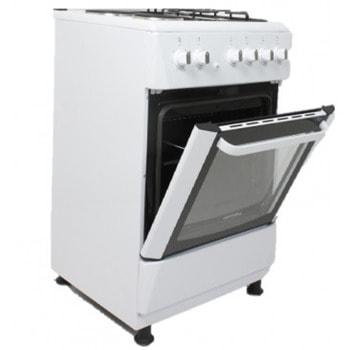 Готварска печка Hoffmann GC6031W, 3 газови + 1 ел. котлон, 1000 W, турбо вентилатор, термостат, бяла image