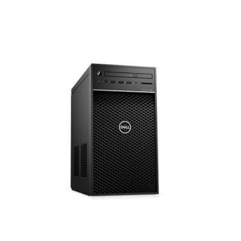 Настолен компютър Dell Precision 3630 Tower (#DELL02606), осемядрен Coffee Lake Intel Core i7-9700 3.0/4.7 GHz, Radeon Pro WX 5100 8GB, 256GB SSD & 1TB HDD, 5x USB 3.1, клавиатура и мишка, Windows 10 Pro image