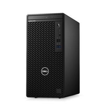 Настолен компютър Dell OptiPlex 3080 MT (DTO3080MTI3101004G1T_UBU-14), четириядрен Comet Lake Intel Core i3-10100 3.6/4.3 GHz, 4GB DDR4, 1TB HDD, 2x USB 3.2 Gen 1, клавиатура и мишка, Linux image