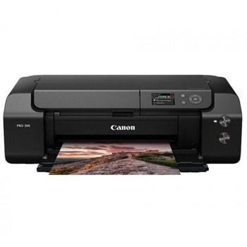 Мастиленоструен принтер Canon imagePROGRAF PRO-300, цветен, 4800 x 2400 dpi, 1x A3+ 4мин/15с стр/мин, Wi-Fi, LAN, USB, A3+ image