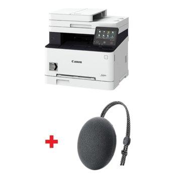Мултифункционално лазерно устройство Canon i-SENSYS MF643Cdw в комплект с тонколона Huawei Sound Stone Bluetooth Speaker CM51 (черна), принтер/копир/скенер, 600 x 600 dpi, 21 стр./мин, LAN, Wi-Fi, USB, A4 image