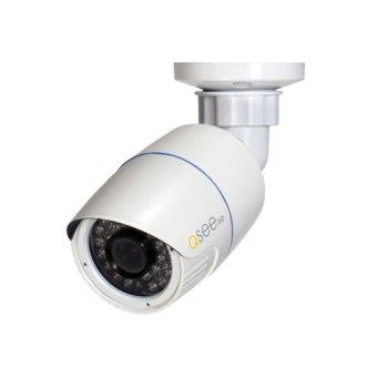"""IP камера Q-See QTN8037B, насочена """"bullet"""", 3Mpix (2048x1536@25fps, 3.6mm обектив, H.264/M-JPEG, IR осветеност (до 30 метра), външна, IP66 защита, PoE, LAN10/100 image"""