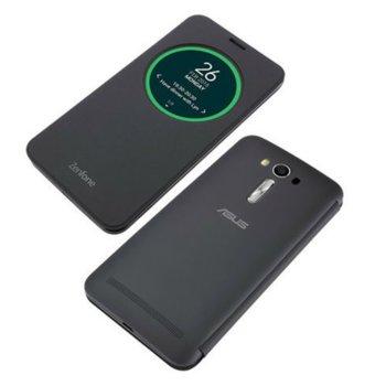 Калъф за Asus ZenFone 2 Laser, отваряем с прозорец, поликарбонатов, Asus View Flip ZE500KL, черен image