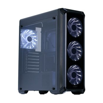 Кутия Zalman ZM-I3-EDGE, ATX/mATX/MiniITX, USB 3.0, прозорец, черна, без захранване image