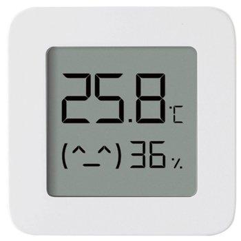 """Цифров термометър/влагометър Xiaomi Mi Temperature and Humidity Monitor 2, bluetooth, 1.6"""" LCD дисплей, бял image"""