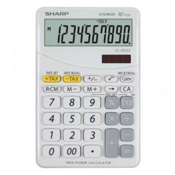 Калкулатор SHARP EL-M332, 10 заряден дисплей, бял image