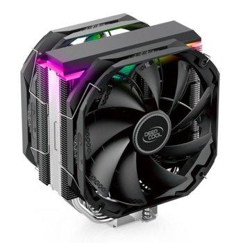 Охлаждане за процесор DeepCool AS500 PLUS aRGB, съвместимо с LGA 1200/1150/1151/1155/1156/1366/2011-0/2011-3/2066 & AMD AM4/AM3+/AM3/AM2+/AM2/FM2+/FM2/FM1 image