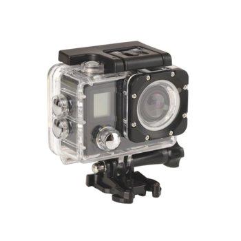 Екшън камера Sandberg ActionCam 4K, камера за екстремен спорт, 4К@30fps, microSD слот, microUSB, Wi-Fi, черен image