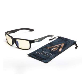 Комплект Gunnar Assassin's Creed Onyx Case Promo Pack, очила/калъф/почистващ спрей, гейминг, черни image
