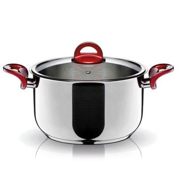 Тенджера Pyramis Essentio 014006701, 5.5 литра, 26 cm диаметър, стомана, тройна топлоакумулираща основа, 3 нива на готвене, с капак image