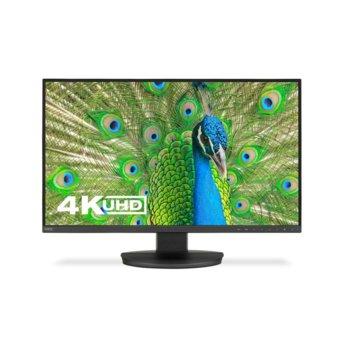 """Монитор NEC EA271U Black, 27"""" (68.58 cm) IPS панел, Ultra HD, 5ms, 9000:1, 350 cd/m2, HDMI, Display Port, USB-C, USB image"""