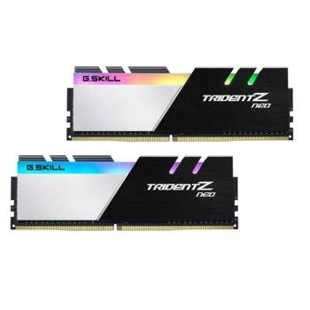 Памет 32GB (2x16GB) DDR4 3200MHz, G.SKILL Trident Z Neo, F4-3200C14D-32GTZN, 1.35V, RGB image