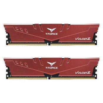 Памет 64GB (2x32GB) DDRR4 2666MHz, Team Group T-Force Vulcan Z Red TLZRD464G2666HC18HDC01, 1.35V image