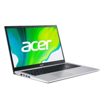 "Лаптоп Acer Aspire 3 A315-35 (NX.A6LEX.009_8GB)(сребрист), четириядрен Jasper Lake Intel Celeron N5100 1.1/2.8 GHz, 15.6"" (39.62 cm) Full HD Anti-Glare Display, (HDMI), 8GB DDR4, 256GB SSD, 2x USB 3.0, Linux image"