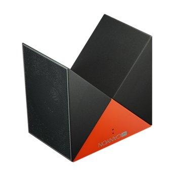 Тонколони Canyon CNS-CBTSP4BO, 2.0, 6W RMS (3W + 3W), Bluetooth, AUX, micro-USB, Micro-SD слот, до 8 часа време за работа, черна/оранжева image