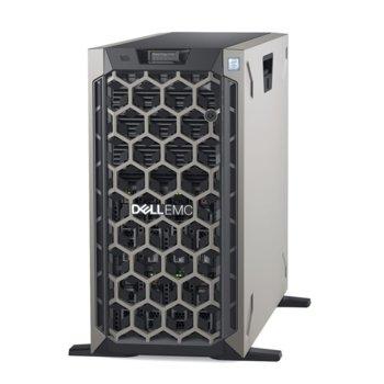 Сървър Dell PowerEdge T440 (PET440CEEM01-14), осемядрен Cascade Lake Intel Xeon Silver 4208 2.1/3.2 GHz, 16GB DDR4 ECC RDIMM, 600GB HDD, 2x GbE LOM, 2x USB 3.0, NO OS, 2x 750W PSU image