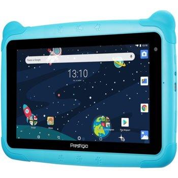 "Таблет Prestigio Smartkids (PMT3197_W_D), 7"" (17.78 cm) IPS LCD дисплей, четириядрен процесор 1.3GHz, 1GB RAM, 16GB Flash памет, 2.0 & 0.3 Mpix камера, Android 8.1(go edition), 210g image"