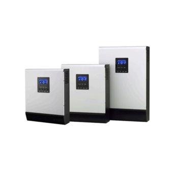 Инвертор Lever HOMIV-5K, хибриден синусоиден, 5000VA/4000W, от 90–280 Vac към 230 Vac ± 5%, LCD дисплей image