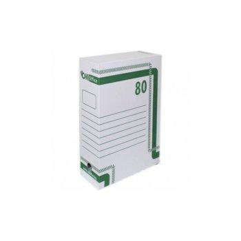 Архивна кутия за документи, 350х250х80 mm, бяла image