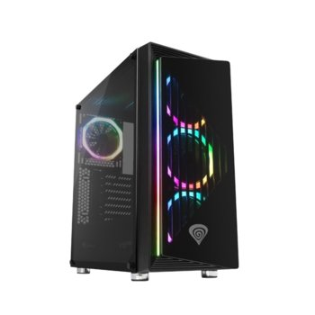 Кутия Genesis Irid 400 RGB, ATX, Micro-ATX, mini-ITX, 2x USB 3.0, 2x USB 2.0, прозорец, черна, без захранване image