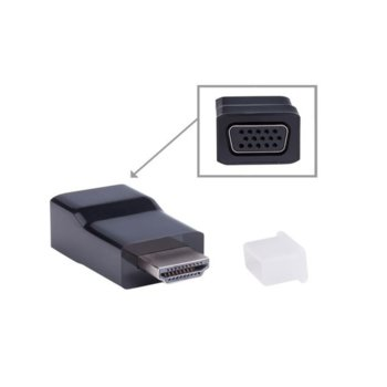 Адаптер Lanberg, HDMI-А(м) към VGA(ж), черен 50 бр image