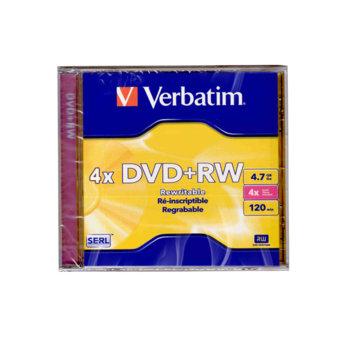 DVD+RW media 4.7GB Verbatim 4x кутийка product