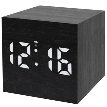 Часовник/будилник Bresser MyTime WAC, календар, аларма, часовник, термометър, цветен екран, светодиодно осветление, вътрешен високоговорител, черен image