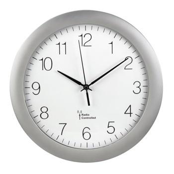 Часовник Hama PG-300, аналогово указание, стенен, сребрист image