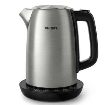Електрическа кана Philips HD9359/90, 1.7 литра, 2200W, инокс image