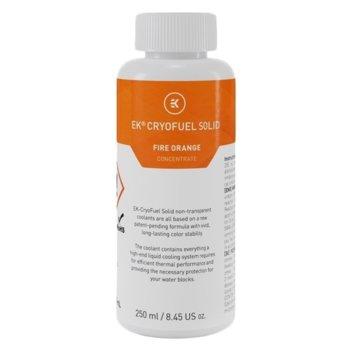 Течност за водно охлаждане Ekwb EK-CryoFuel Solid Fire Orange, 250ml, оранжева image