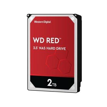 """Твърд диск 2TB WD Red NAS, SATA 6Gb/s, 5400 rpm, 64MB креш, 3.5"""" (8.89 cm) image"""