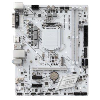 Дънна платка MSI H310M Gaming Arctic, H310, LGA1151, DDR4, PCI-Е(HDMI&DVI), 4x SATA 6Gb/s, 1x M.2 slots, 2x USB 3.1 (Gen1), mATX image