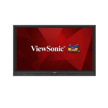 "Дисплей ViewSonic IFP6560, тъч дисплей, 65"" (165.1 cm), Ultra HD, HDMI, VGA, DisplayPort, RS232, USB image"