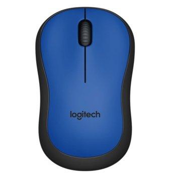 Мишка Logitech M220 Silent, оптична (1000dpi), безжична, USB, синя image