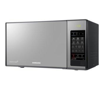 Микровълнова фурна Samsung GE83X/BOL, с грил, електронно управление, 800 W, 23 л. обем, 6 степени на мощност, черна/сива image