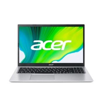 """Лаптоп Acer Aspire 3 A315-35 (NX.A6LEX.00L)(сребрист), двуядрен Jasper Lake Intel Celeron N4500 1.1/2.8 GHz, 15.6"""" (39.62 cm) Full HD Anti-Glare Display, (HDMI), 8GB DDR4, 512GB SSD, 2x USB 3.0, No OS image"""