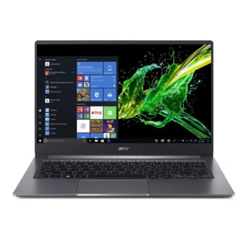 "Лаптоп Acer Swift 3 SF314-57-510L (NX.HJFEX.006)(сив), четириядрен Ice Lake Intel i5-1035G1 1.0/3.6 GHz, 14.0"" (35.56 cm) Full HD IPS Anti-Glare Display, (HDMI), 8GB DDR4, 512GB SSD, 1x USB Type-C, Windows 10 Home  image"