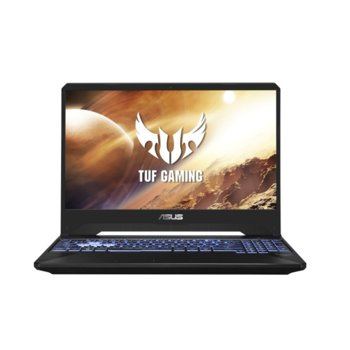 """Лаптоп Asus TUF FX505DT-BQ030 (90NR02D2-M05670), четириядрен Zen 2 AMD Ryzen 7 3750H 2.3/4.0 GHz, 15.6"""" (39.62 cm) Full HD IPS Anti-Glare Display & GTX 1650 4GB, (HDMI), 8GB DDR4, 512GB SSD, 2x USB 3.1, Free DOS image"""