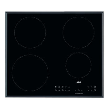 Индукционен плот за вграждане AEG IKB64301FB, 7350W, 4 нагревателни зони, таймер, сензорен контрол, черен image