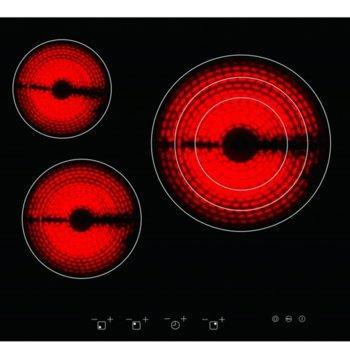 Плот за вграждане Arielli ACH-573T, 3 нагревателни зони, индикатор за остатъчна топлина, сензорно управление, черен image