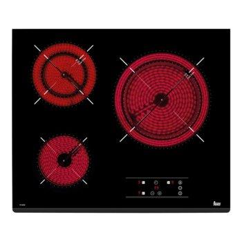 Стъклокерамичен плот за вграждане Teka TZ 6320, 3 нагревателни зони, автоматично изключване за безопастност, независимо програмиране на всяка зона, черен image