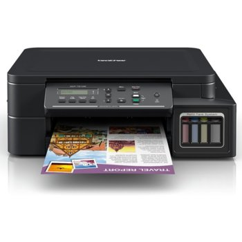 Мултифункционално мастиленоструйно устройство Brother DCP-T510W Inkjet Multifunctional, цветно, принтер/копир/скенер, 6000 x 1200 dpi, 27стр/мин, Wi-Fi, USB, A4 image