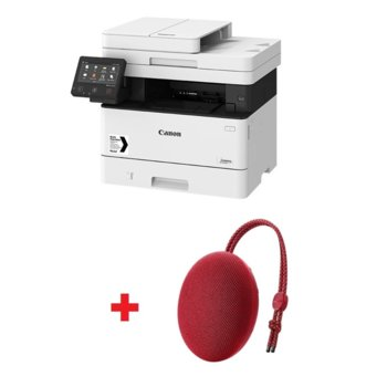 Мултифункционално лазерно устройство Canon i-SENSYS MF443dw в комплект с тонколона Huawei Sound Stone Bluetooth Speaker CM51 (червена), монохромен принтер/копир/скенер, 600 x 600 dpi, 38 стр./мин, USB, LAN, Wi-Fi, A4 image