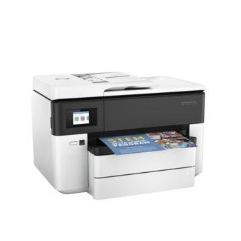 Мултифункционално мастиленоструйно устройство HP OfficeJet Pro 7730, цветен, принтер/копир/скенер/факс, 1200 x 1200 dpi, 22 стр/мин, LAN1000, Wi-Fi, USB, A4 image