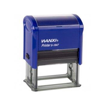 Автоматичен печат Wanxi PR30, 18/47 mm, правоъгълен image