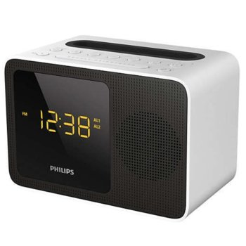 Цифрово радио Philips AJT5300W, LED дисплей, 3.5mm жак, USB, Bluetooth, черно image