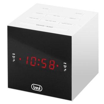 Радиочасовник Trevi RC 855 C, AM/FM тунер, AUX IN, аларма, функция за заспиване, бял image