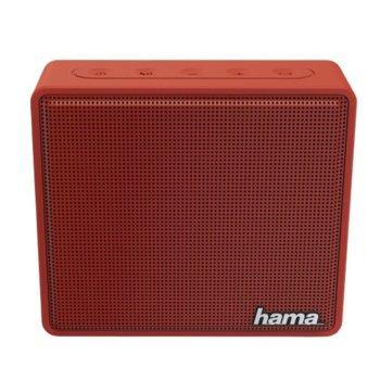 Тонколона Hama Pocket, 1.0, 3W, Bluetooth, 3.5mm Jack, microUSB, MicroSD Card, червена, 800mAh image