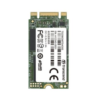 Памет SSD 128GB Transcend MTS400S, SATA 6Gb/s, М.2, скорост на четене 560MB/s, скорост на запис 460MB/s image