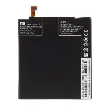 Батерия (оригинална) Xiaomi BM31, за XiaoMi Mi3, 3050mAh/3.80V, bulk image